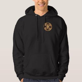 Bold Monogrammed Pocket Art Hooded Sweatshirt