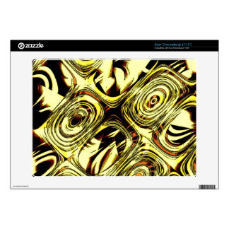 Bold Move - Yellow and Black Abstract Acer Chromebook Skins