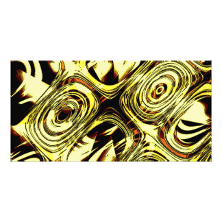 Bold Move - Yellow and Black Abstract Card