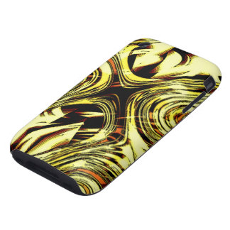 Bold Move - Yellow and Black Abstract Tough iPhone 3 Covers