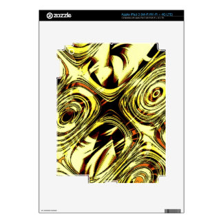 Bold Move - Yellow and Black Abstract Decals For iPad 3