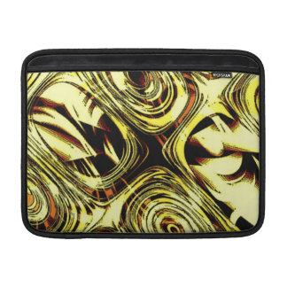 Bold Move - Yellow and Black Abstract Sleeve For MacBook Air