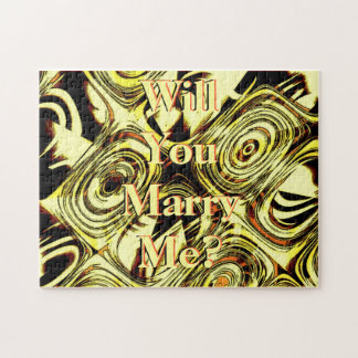 Bold Move - Yellow and Black Abstract Jigsaw Puzzle