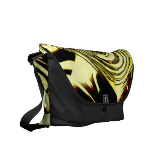 Bold Move - Yellow and Black Abstract Messenger Bag