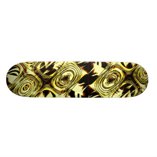 Bold Move - Yellow and Black Abstract Skateboard Deck