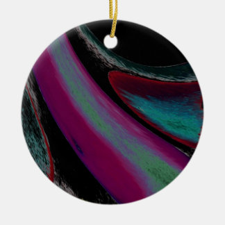 Bold Movement Ceramic Ornament