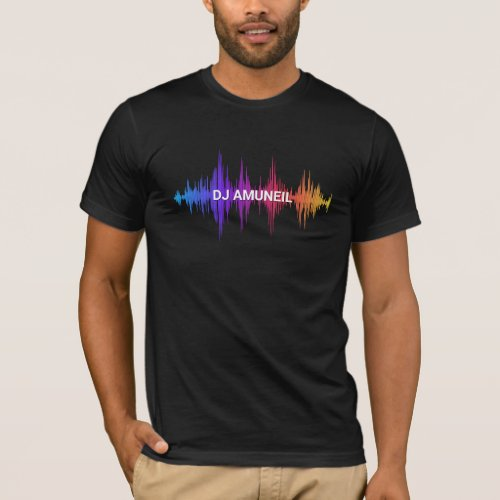 Bold Music Waves Multi-Colored DJs, Audio T-Shirt