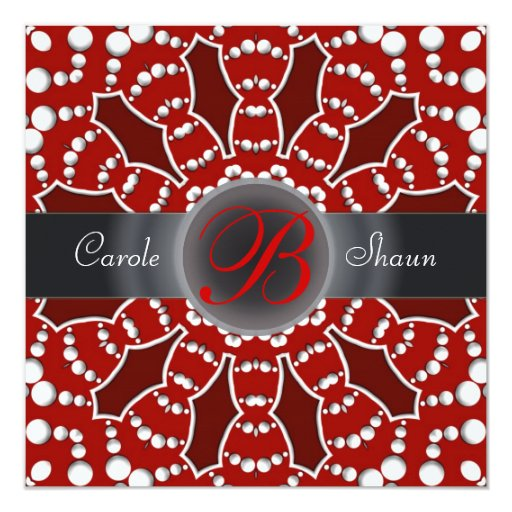 Bold n Alternative Red & White Wedding Invitation