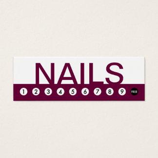 bold NAIL SALON customer loyalty Mini Business Card
