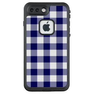 Bold Navy and White Buffalo Plaid LifeProof® FRĒ® iPhone 7 Plus Case