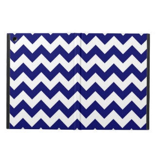 Bold Navy and White Zigzag Case For iPad Air