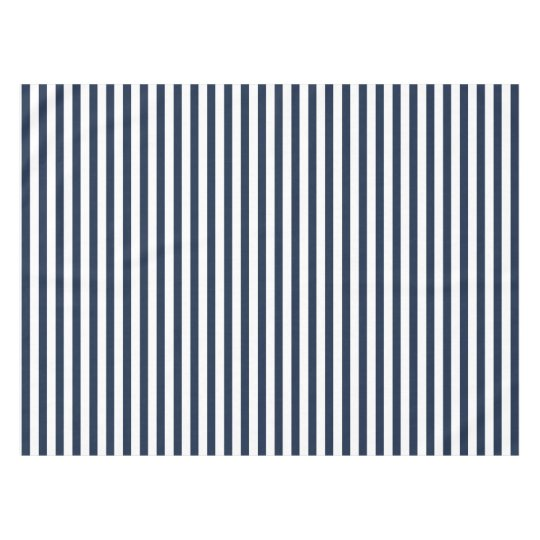Merveilleux Bold Navy Blue And White Stripe Tablecloth