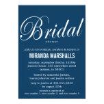Bold Navy Bridal Shower Invitations