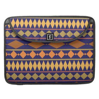 Bold Navy Rust Geometric Tribal Pattern Sleeve For MacBooks
