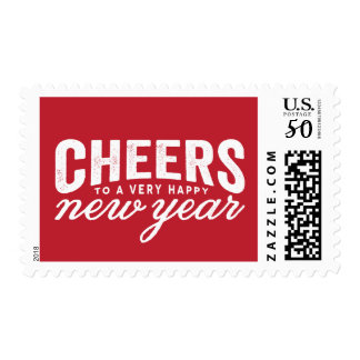 Bold New Year Postage Stamps