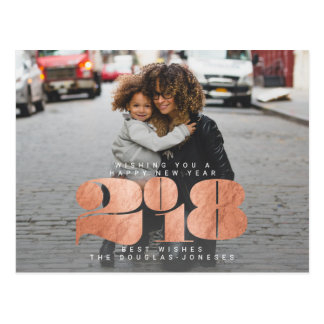 BOLD NEW YEAR(ROSE GOLD) POSTCARD