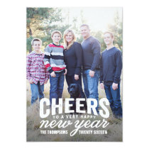 Bold New Years Holiday Photo Card