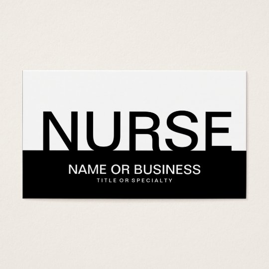 bold NURSE Business Card