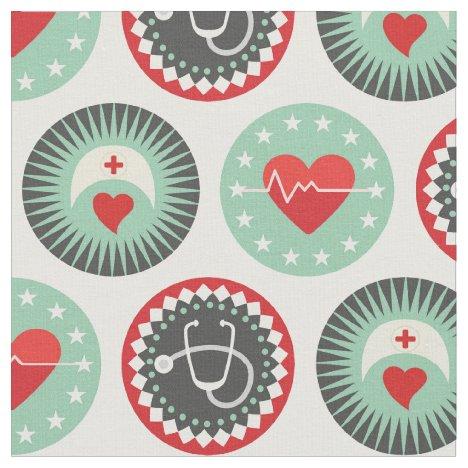 Bold Nurse Pattern - LPN RN Healthcare Fabric