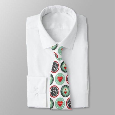 Bold Nurse Pattern - LPN RN Healthcare Neck Tie