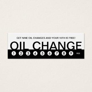 bold OIL CHANGE customer loyalty Mini Business Card