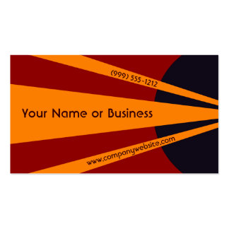 Bold Orange Abstract Spotlight Business Cards