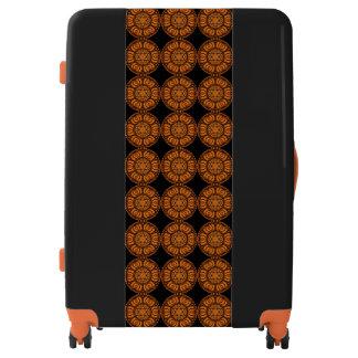 Bold Orange and Black Designer Luggage