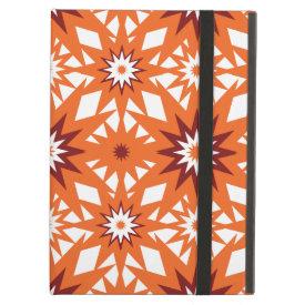 Bold Orange and Red Stars Starburst Pattern iPad Case