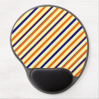 Bold Orange Blue Stripe Gel Mousepad