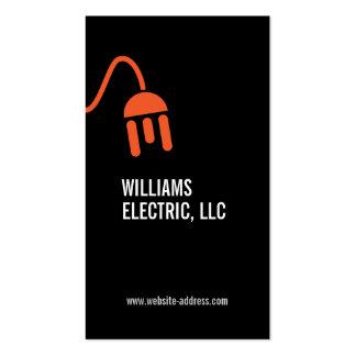BOLD ORANGE ELECTRICIAN LOGO MODERN BUSINESS CARD