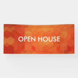 Bold Orange Geometric Pattern Banner