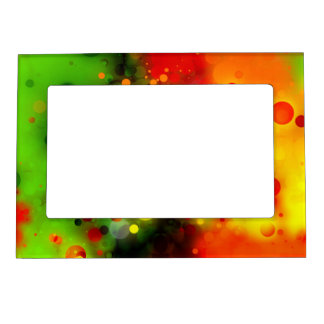 Bold Orange, Green & Yellow Sparkle Design Magnetic Frame