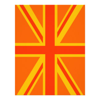 Bold Orange Union Jack British Flag Swag Flyer
