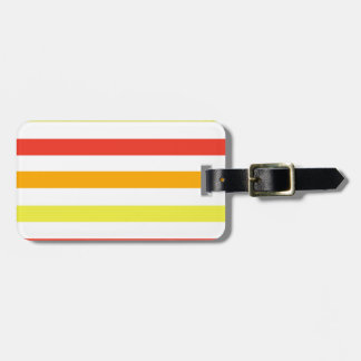 Bold Orange Yellow and Red Stripes Tags For Luggage