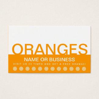bold ORANGES customer loyalty card