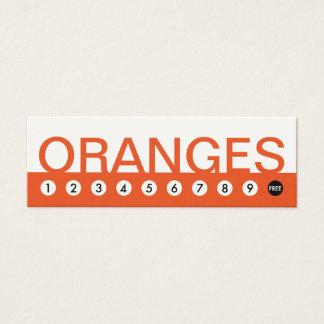 bold ORANGES customer loyalty Mini Business Card