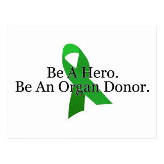 Bold Organ Donor Postcard