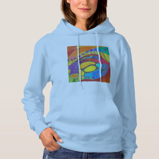 Bold Organic Design Blue Ladies Hoodie