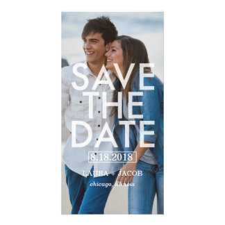Bold Overlay Save The Date Photo Cards