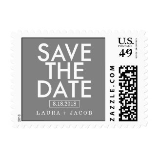 Bold Overlay Save The Date Postage Editable Color