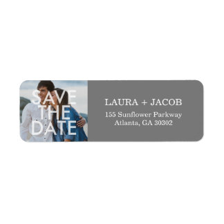 Bold Overlay Save The Date Return Address Labels