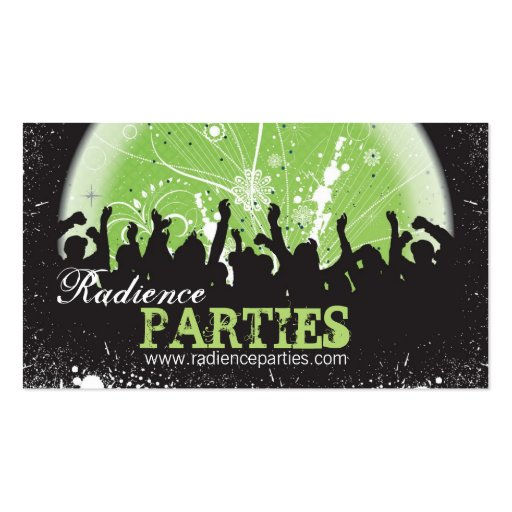 Bold Party Planning Business Card Grunge Mosh Pit
