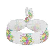 Bold peace sign heart butterflies hair tie