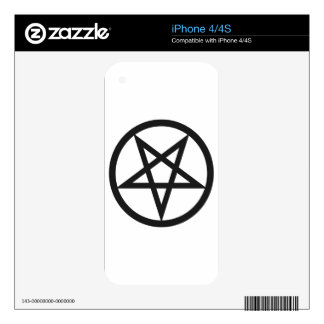 Bold Pentagram Decal For The iPhone 4S