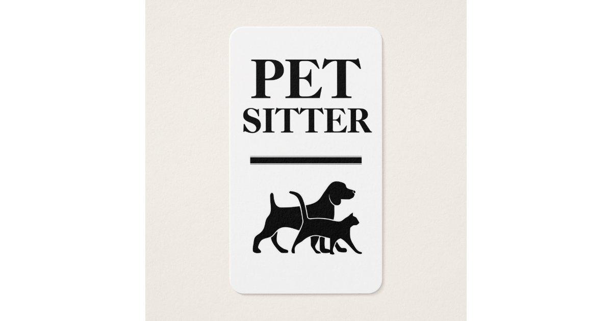 Bold Pet Sitter Business Cards | Zazzle.com