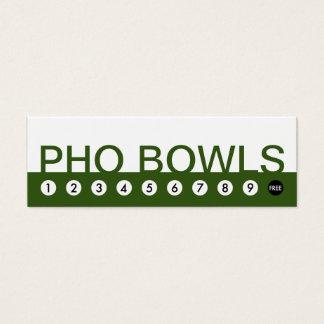 bold PHO BOWLS customer loyalty Mini Business Card