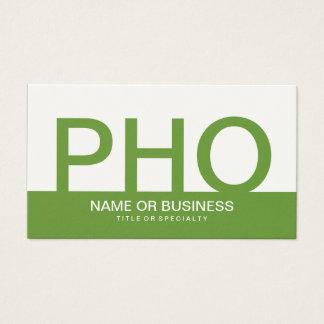 bold PHO (color customizable) Business Card