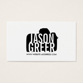 Bold Photographer Digital Camera Logo Photography Business Card