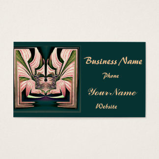 Bold Pink Abstract Business Card