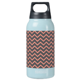 Bold Pink and Purple Zig Zag Striped Pattern Insulated Water Bottle